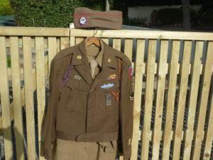 82nd Airborne 456th PFAB uniform belonging to S/Sgt Hentz